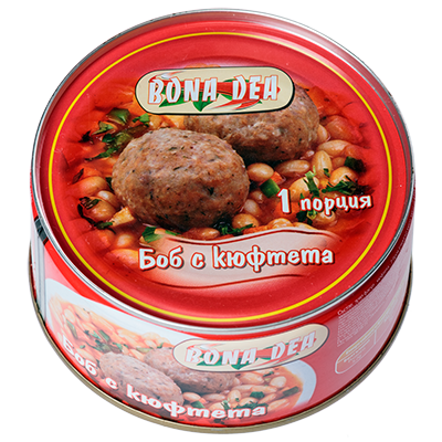 Beans with meatballs 300g.
