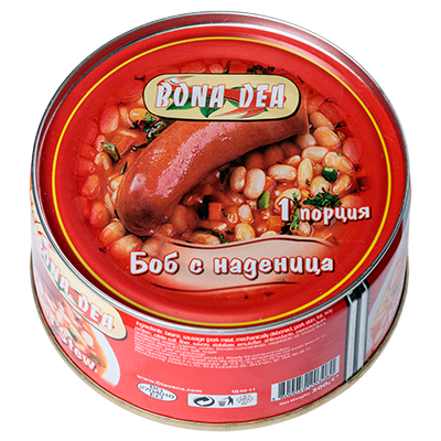 Beans with sausage 300g.