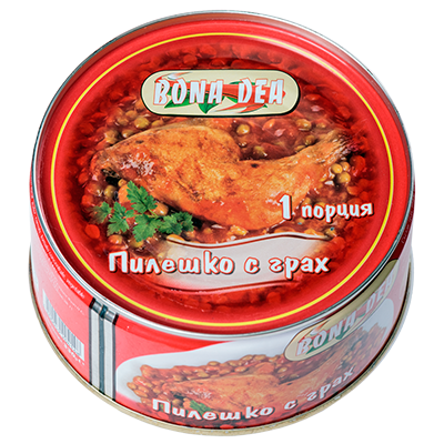 Chicken with peas 330g.